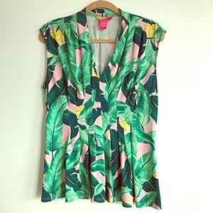 Catherine Malandrino palm print blouse